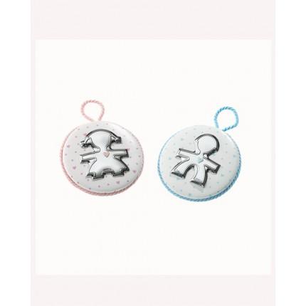 Medaglione con sagoma in argento - Linea Amore
